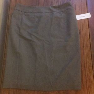 Calvin Klein suit skirt, gray
